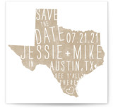 State Stamp- Texas Save The Date Cards
