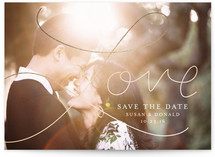 Love is written Save The Date Cards