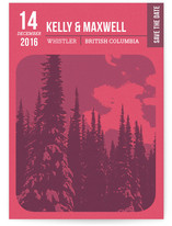 Lift Ticket Save The Date Cards