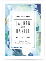 Abstract Art Save The Date Cards