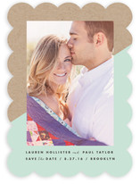 Diagonal Dip Save The Date Cards