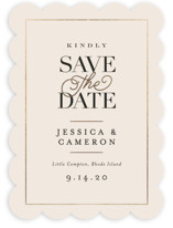 Ivory Details Save The Date Cards