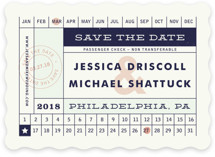 Just The Ticket Save the Date Cards