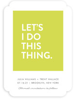Let's I Do This Thing Save The Date Cards