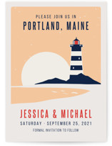 Lighthouse Save The Date Cards