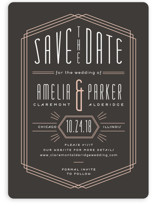 Luxe Deco Save the Date Cards