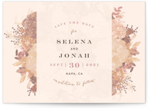 Floral Runner Save The Date Cards