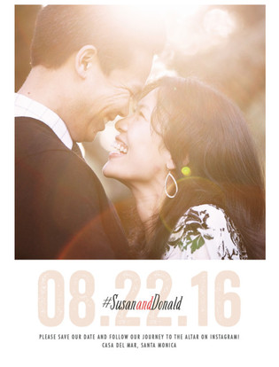 Hashtagged Save the Date Cards