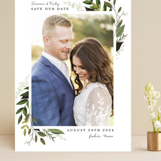 Vines of Green Grand Save The Date Cards