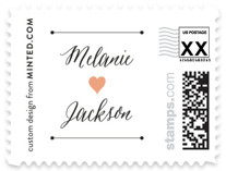 Heartbeat Wedding Stamps