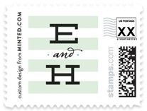 Striped Sweet Nothings Wedding Stamps