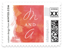 Aquarelle Wedding Stamps