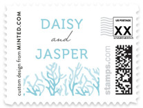 Simple Coral Wedding Stamps
