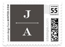 Formal Lines Wedding Stamps