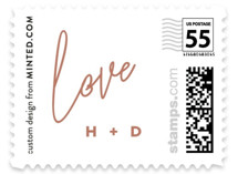 Poised Wedding Stamps