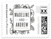 Modern Botanicals Wedding Stamps