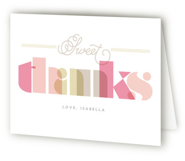 Sweet Sweet 16 Sweet Sixteen Party Thank You Cards