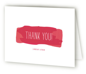 Watercolor Strokes Sweet Sixteen Party Thank You Cards