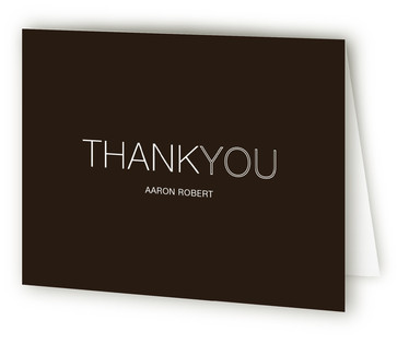 Modern Wrap Sweet Sixteen Party Thank You Cards