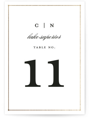Dapper Amper Foil-pressed Table Numbers