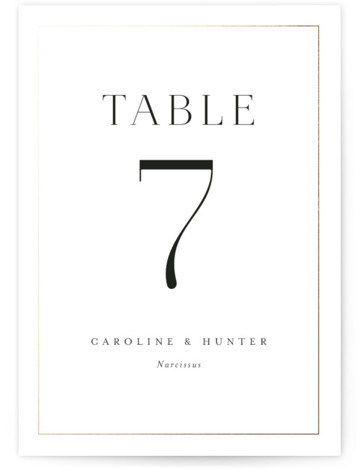 Entwine Foil-Pressed Table Numbers