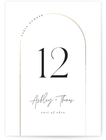 Arch Foil-Pressed Table Numbers