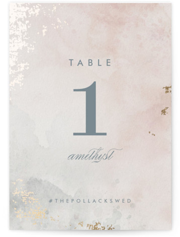 Burnished Foil-Pressed Table Numbers