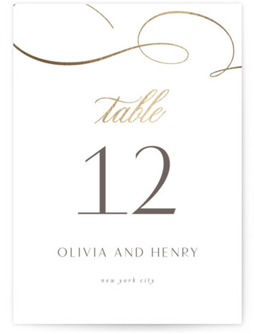 Forever And Foil-Pressed Table Numbers