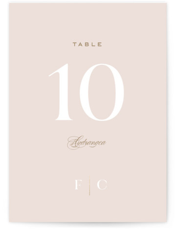 Lovely Day Foil-Pressed Table Numbers