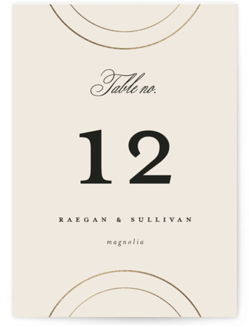Full Circle Foil-Pressed Table Numbers