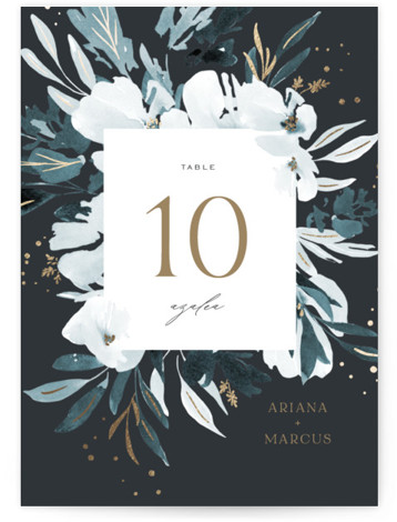 Romance Foil-Pressed Table Numbers