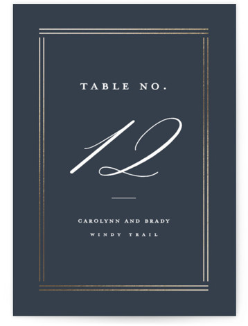 The Biltmore Foil-Pressed Table Numbers