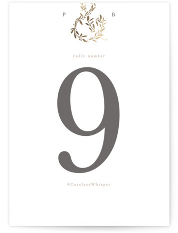 Love and Marriage Foil-Pressed Table Numbers