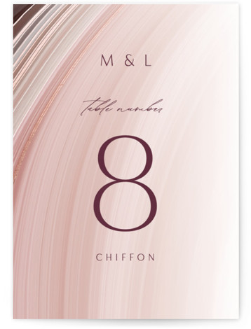 chiffon Foil-Pressed Table Numbers