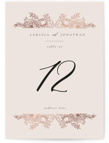 Floral Frame Foil-Pressed Table Numbers