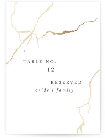 kintsugi Foil-Pressed Table Numbers