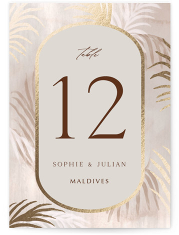 Palm Springs Foil-Pressed Table Numbers