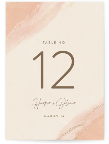 empyrean Foil-Pressed Table Numbers