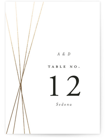 Tied Foil-Pressed Table Numbers
