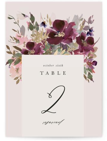 Fleur Foil-Pressed Table Numbers