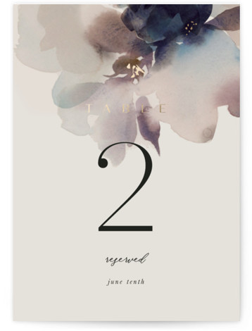 Ethereal Foil-Pressed Table Numbers