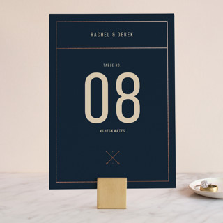 Nautical By Nature Foil-Pressed Wedding Table Numbers