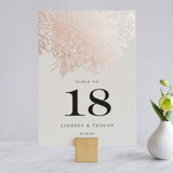 Foil-pressed Table Numbers