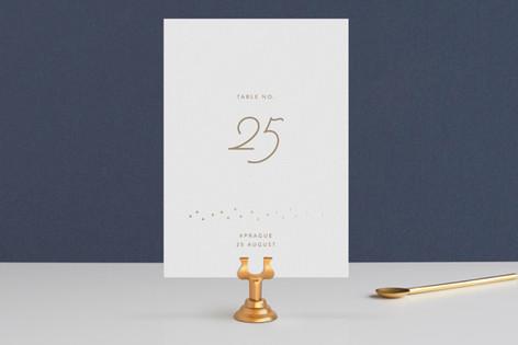 Gilded Celebration Foil-Pressed Wedding Table Numbers