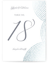 Bespeckle Foil-Pressed Wedding Table Numbers