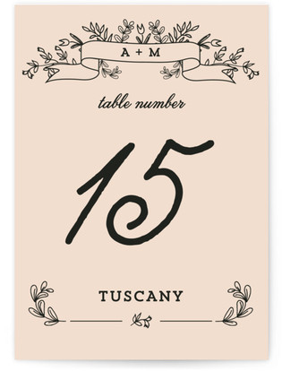 Wedding Bouquet Table Numbers