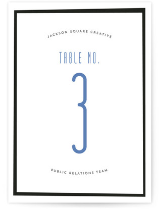 Modern Diner Table Numbers