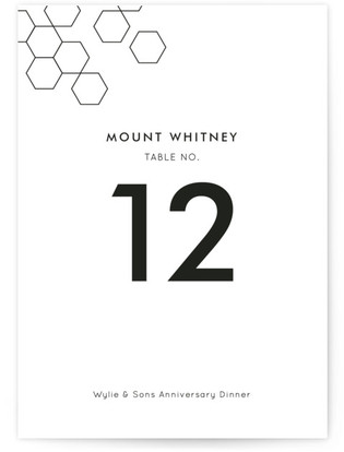 Modern Hex Table Numbers