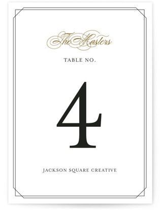 Simply Elegant Table Numbers