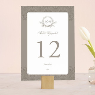 Formalities Wedding Table Numbers